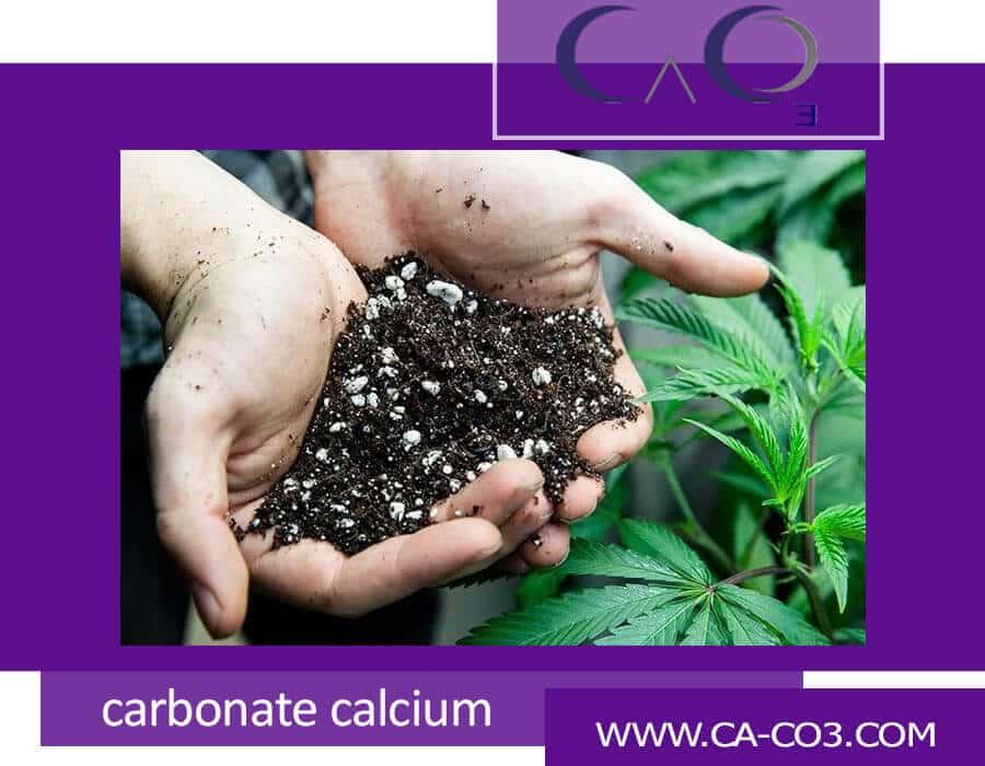 استفاده از کربنات کلسیم به عنوان ماده مغذی خاک