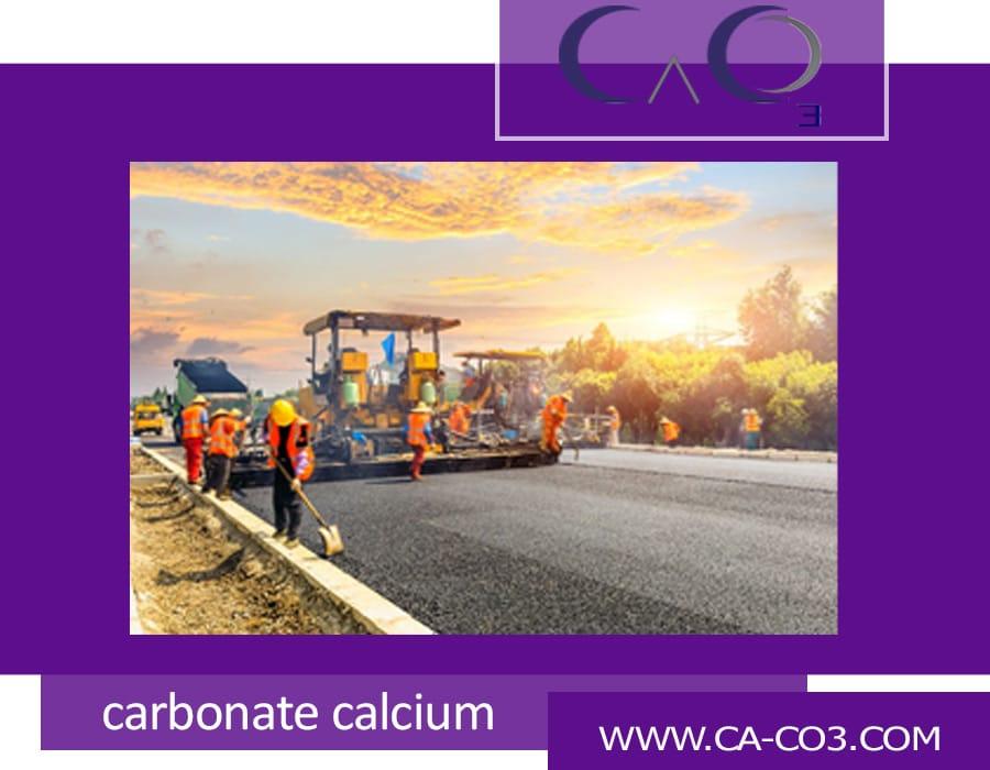 کاربرد کربنات کلسیم در جاده سازی